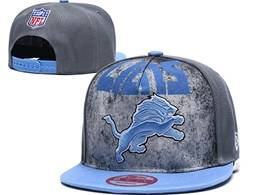 Mens Nfl Detroit Lions Gray Snapback Adjustable Hats
