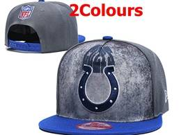 Mens Nfl Indianapolis Colts Snapback Adjustable Hats 2 Colors