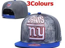 Mens Nfl New York Giants Snapback Adjustable Hats 3 Colors