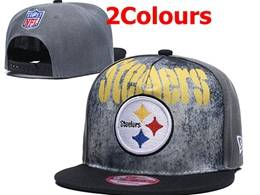Mens Nfl Pittsburgh Steelers Snapback Adjustable Hats 2 Colors