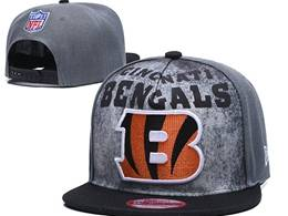 Mens Nfl Cincinnati Bengals Gray Snapback Adjustable Hats
