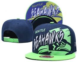 Mens Nfl Seattle Seahawks Blue Snapback Adjustable Hats