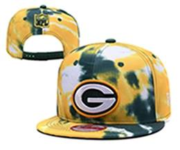 Mens Nfl Green Bay Packers Multicolour Snapback Adjustable Hats