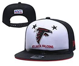 Mens Nfl Atlanta Falcons White & Black 100th Snapback Adjustable Hats