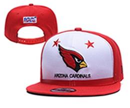 Mens Nfl Arizona Cardinals White & Red 100th Snapback Adjustable Hats