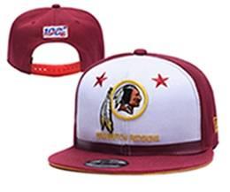 Mens Nfl Washington Redskins White & Red 100th Snapback Adjustable Hats