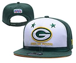 Mens Nfl Green Bay Packers White & Green 100th Snapback Adjustable Hats