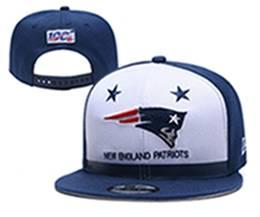 Mens Nfl New England Patriots White & Blue 100th Snapback Adjustable Hats