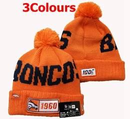 Mens Nfl Denver Broncos 100th New Sport Knit Hats 3 Colors