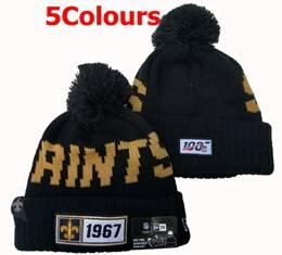 Mens Nfl New Orleans Saints 100th New Sport Knit Hats 5 Colors