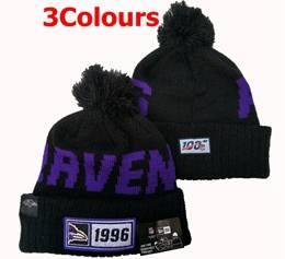 Mens Nfl Baltimore Ravens 100th New Sport Knit Hats 3 Colors