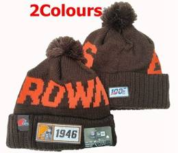 Mens Nfl Cleveland Browns 100th New Sport Knit Hats 2 Colors