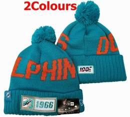 Mens Nfl Miami Dolphins 100th New Sport Knit Hats 2 Colors
