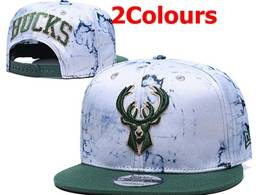 Mens Nba Milwaukee Bucks Snapback Adjustable Hats 2 Colors