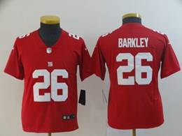 Women Youth Nfl New York Giants #26 Saquon Barkley Red Nike Inverted Legend Jersey