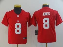 Women Youth Nfl New York Giants #8 Daniel Jones Red Nike Inverted Legend Jersey