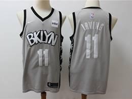 Mens Nba Brooklyn Nets #11 Kyrie Irving Gray New Season Nike Swingman Jersey