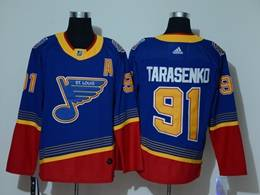 Mens Nhl St.louis Blues #91 Vladimir Tarasenko Blue With Red Adidas Player Jersey