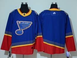 Mens Nhl St.louis Blues Blank Blue With Red Adidas Player Jersey