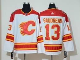Mens Nhl Calgary Flames #13 Johnny Gaudreau White 2019 Heritage Classic Breakaway Adidas Player Jersey