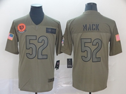 Mens Nfl Chicago Bears #52 Khalil Mack Green 2019 Salute To Service Limited Jersey
