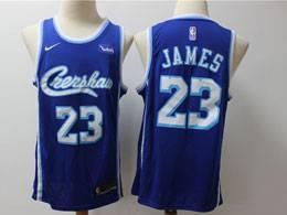 Mens Nba Los Angeles Lakers #23 Lebron James Blue 2019-2020 New Nike Swingman Jersey