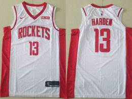 Mens Nba Houston Rockets #13 James Harden White 2019-2020 Nike Swingman Jersey