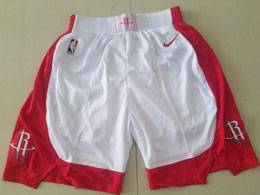 Mens Nba Houston Rockets Red 2019-2020 Nike White Shorts