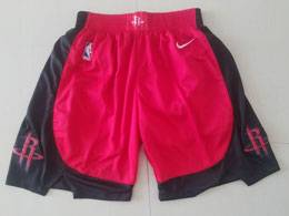 Mens Nba Houston Rockets Red 2019-2020 Nike Red Shorts