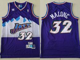 Mens Nba Utah Jazz #32 Karl Malone Purple Adidas Hardwood Classics Swingman Jersey