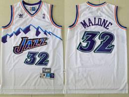 Mens Nba Utah Jazz #32 Karl Malone White Adidas Hardwood Classics Swingman Jersey