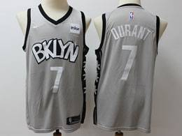 Mens 2019-20 Nba Brooklyn Nets #7 Kevin Durant Gray Nike Swingman Jersey