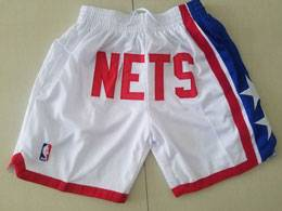 Mens Nba Brooklyn Nets White Nike Just Do Pocket Shorts