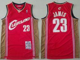 Mens Nba Cleveland Cavaliers #23 Lebron James Red Adidas Hardwood Classics Swingman Jersey