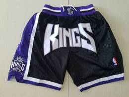 Mens Nba Sacramento Kings Black Nike Just Do Pocket Shorts