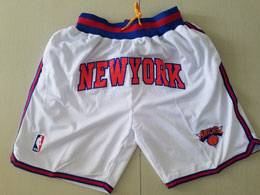 Mens Nba New York Knick White Nike Just Do Pocket Shorts