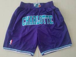 Mens Nba Charlotte Hornets Purple Nike Just Don Pocket Shorts