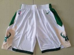 Mens Nba Milwaukee Bucks White Nike Shorts