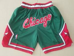 Mens Nba Chicago Bulls Green Nike Just Do Pocket Shorts