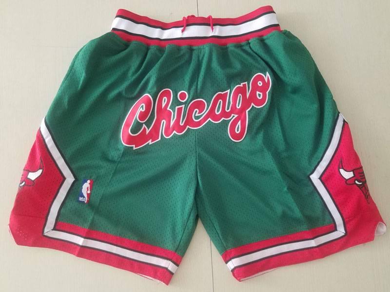 Mens Nba Chicago Bulls Green Nike Just Do Pocket Shorts