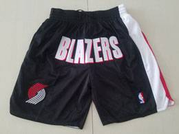 Mens Nba Portland Trail Blazers Black Nike Just Do Pocket Shorts