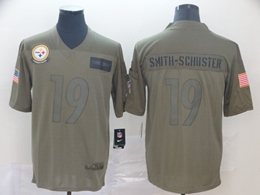 Mens Nfl Pittsburgh Steelers #19 Juju Smith-schuster Green 2019 Salute To Service Limited Jersey