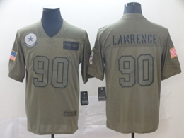 Mens Nfl Dallas Cowboys #90 Demarcus Lawrence Green 2019 Salute To Service Limited Jersey