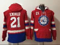 Mens Youth Nba Philadelphia 76ers #21 Joel Embiid Red With Pocket Hoodie Jersey