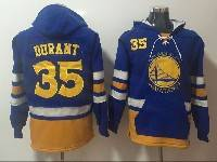 Mens Youth Nba Golden State Warriors #35 Kevin Durant Blue With Pocket Hoodie Jersey