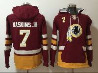 Mens Nfl Washington Redskins #7 Haskins Jr Red Pocket Pullover Hoodie