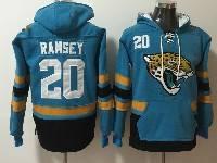 Mens Nfl Jacksonville Jaguars #20 Jalen Ramsey Blue With Pocket Hoodie Jersey