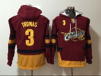 Mens Nba Cleveland Cavaliers #3 Isaiah Thomas Red With Pocket Hoodie Jersey