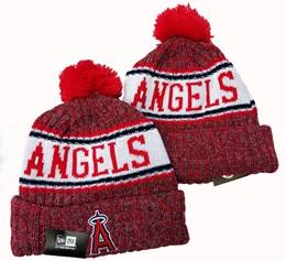 Mens Mlb Los Angeles Angels Red New Sport Knit Hats One Color