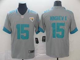 Mens Nfl Jacksonville Jaguars #15 Gardner Minshew Ii Gray Nike Inverted Legend Vapor Untouchable Limited Jersey